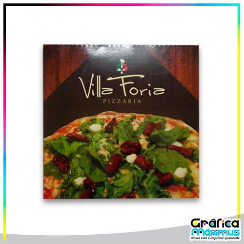 Caixa de pizza personalizada preço